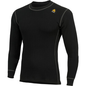 Aclima WarmWool Top Cuello Barco Hombre, jet black